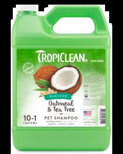 Shampoing à l'avoine et au théier pour animaux , Tropiclean 1 gallon concentré