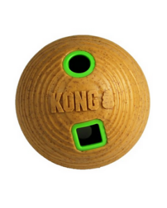 Distributeur gâteries balle bamboo moyenne pour chiens, Kong