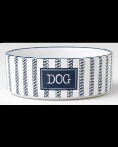 """Bol pour chiens en céramique bleu et blanc, petit 5"""""""
