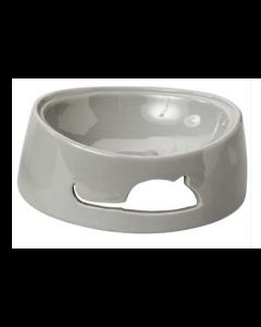 """Bol en céramique pour chats, gris 5.5"""", Spot"""