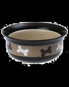 Bol pour chiens en céramique avec os, Petrageous