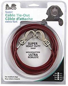 Super Câble d'attache  extra-for pour chien moyen Zinco
