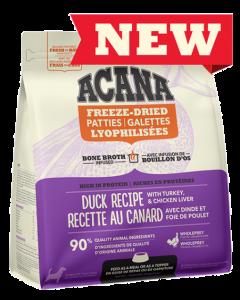 Nourriture lyophilisée pour chiens, recette au canard, Acana