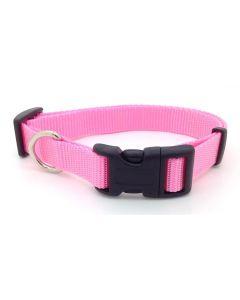 Collier de nylon rose pour chien