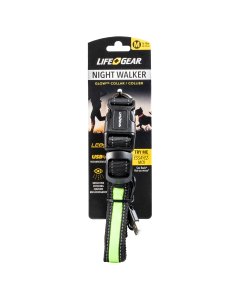 Laisse verte au led rechargeable life gear night walker