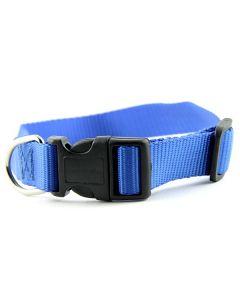 collier bleu pâle nylon