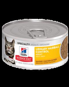 Conserve de pâté pour chat, Urinaire et boules de poils Science Diet 156g