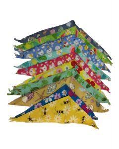 Bandanas ou foulards Cozymo, motif de printemps pour animaux