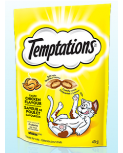 Gâteries pour chats au poulet Temptations 85g