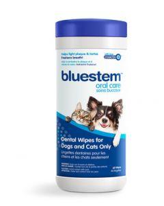 Lingettes dentaires Bluestem pour chiens et chats