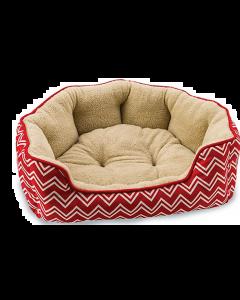 """Lit pour chiens, chevron scallop rouge 31"""", Comfort spot"""