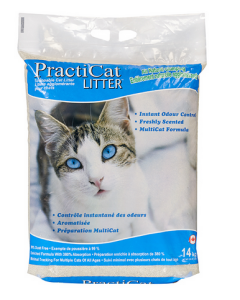 Litière agglomérante pour chats, Practicat 14kg