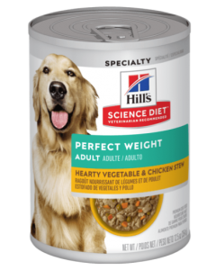 Nourriture pour chien humide ragout, poids parfait poulet légumes, Science diet