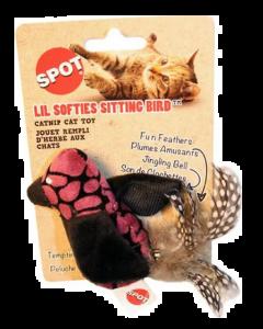 jouet peluche pour chats oiseau avec herbe à chat, Spot
