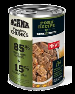 Conserve pour chiens, au porc avec bouillon d'os, Acana