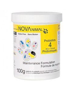 Probiotiques pour chiens et chats, Novanimal 100g