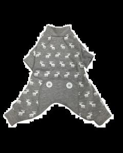 Pyjama pour chiens moose gris, Foufoudog