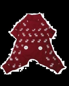 Pyjama pour chiens moose rouge , Foufoudog