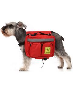 Sac à dos pour chien avec réflecteur