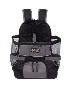 sac de transport ventral pour chien outward hound gris