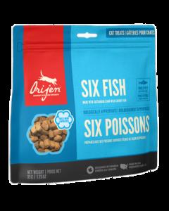 Gâteries pour chats lyophilisées, six poissons, Orijen