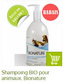 shampoing bio pour chien