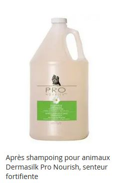 Après shampoing a l'avoine, pomme fraîche pour animaux