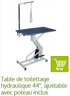 table economique toilettage